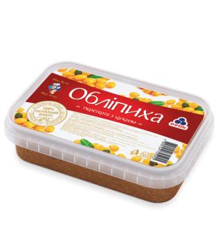 Замороженные ягоды Рудь Облепиха, перетертая с сахаром