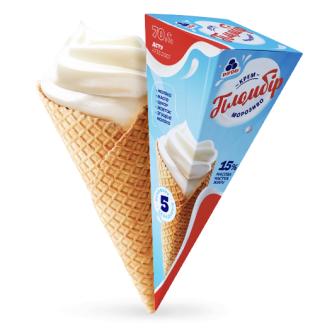 "Мороженое Рудь ""Крем-пломбир"" рожок"