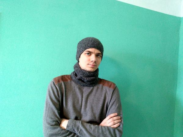 Зимняя шапка-баф