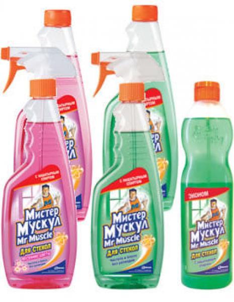 Средство для мытья стекол Мистер Мускул отзывы и описание покупателей, обсуждение, характеристики и фото, отзыв цена - Мистер Му